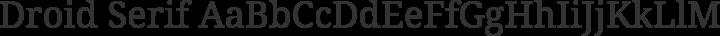 Droid Serif Regular free font
