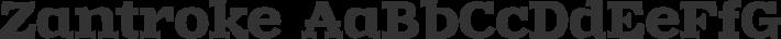 Zantroke font family by GLUK fonts