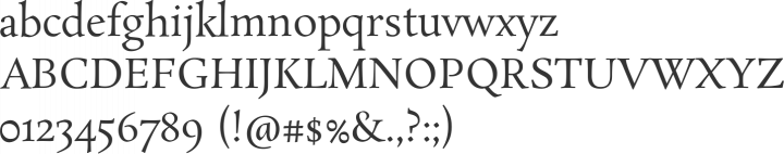 Rosarivo Font Specimen