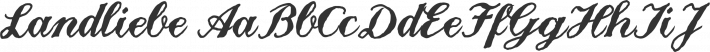Landliebe font family by Richard Mitchell