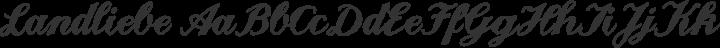 Landliebe Regular free font