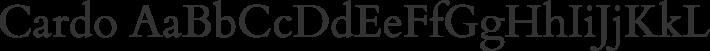Cardo font family by David Perry