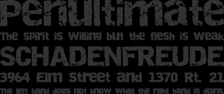 Destroy Font Phrases