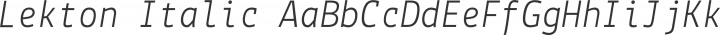Lekton Italic free font