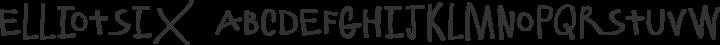 ElliotSix Regular free font