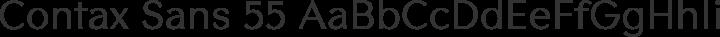 Contax Sans 55 Regular free font