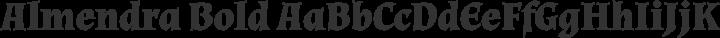 Almendra Bold free font