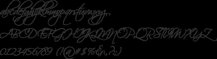 Scriptina Pro Font Specimen