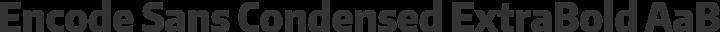 Encode Sans Condensed ExtraBold free font