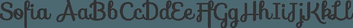Sofia font family by Latinotype