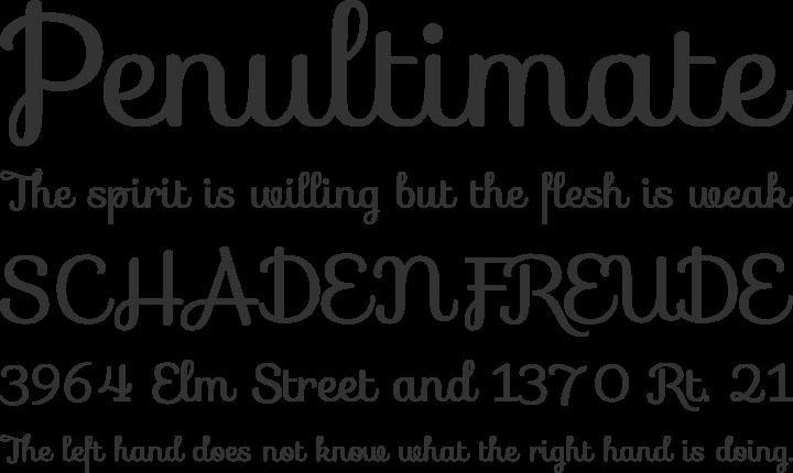 Sofia Font Phrases