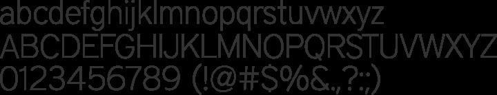 District Thin Font Specimen