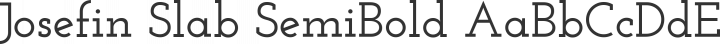 Josefin Slab SemiBold free font