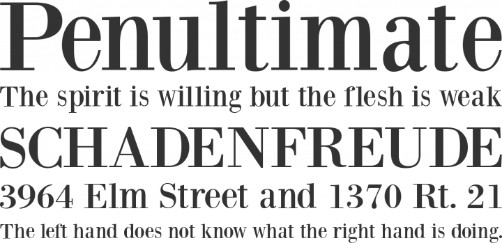 BodoniXT Font Phrases