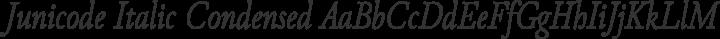 Junicode Italic Condensed free font