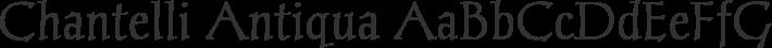 Chantelli Antiqua font family by Bernd Montag