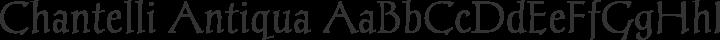 Chantelli Antiqua Regular free font