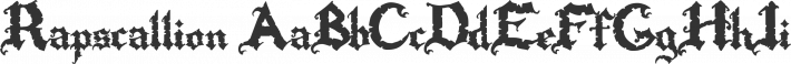 Rapscallion font family by Ryan Splint