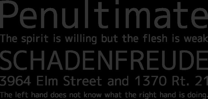M+ 1c Font Phrases
