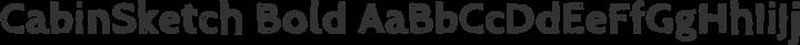 CabinSketch Bold free font