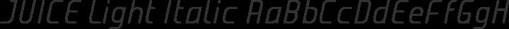 JUICE Light Italic free font