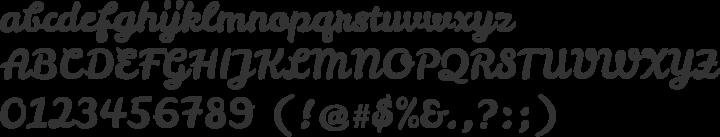 Leckerli One Font Specimen