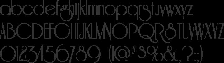 Riesling Font Specimen