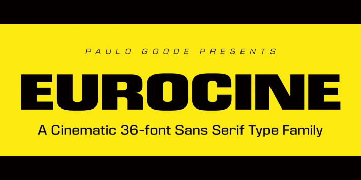 Eurocine Font Free by Paulo Goode » Font Squirrel