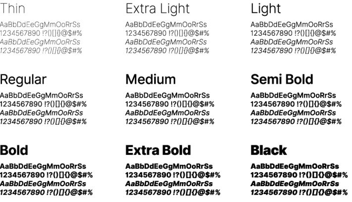 Inter Font Free by Rasmus Andersson » Font Squirrel